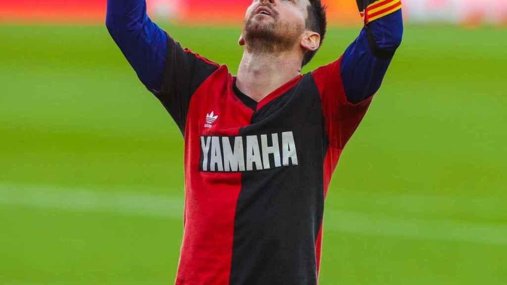 Leo Messi y su homenaje a Maradona en el partido ante Osasuna
