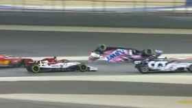 Stroll vuelca en el GP de Bahréin