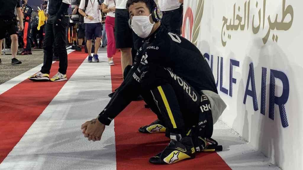 Ricciardo antes de la salida en el GP de Bahréin