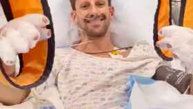 Grosjean en el hospital tras su accidente