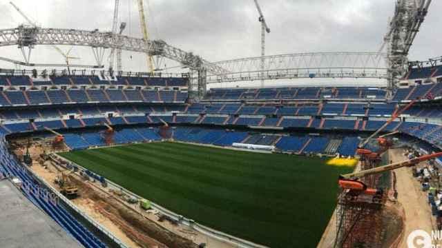 Foto de las obras del Estadio Santiago Bernabéu durante el mes de noviembre de 2020. Foto: nuevoestadiobernabeu.com