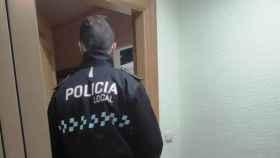 Actuación de la Policía Local de Albacete este sábado (Foto: Twitter)