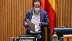 Pablo Iglesias, el pasado jueves en el Congreso./