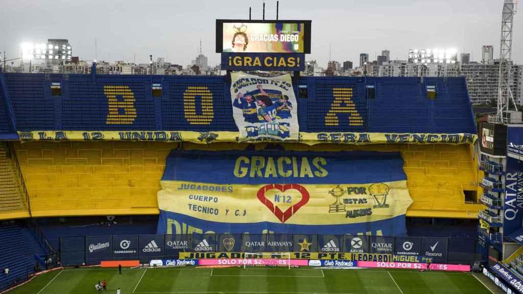 Homenaje de Boca Juniors a Maradona