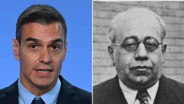 Pedro Sánchez y Manuel Azaña.