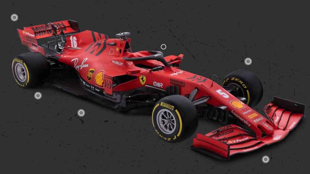 Coche de Fórmula 1 de la escudería Ferrari con el halo encima del piloto