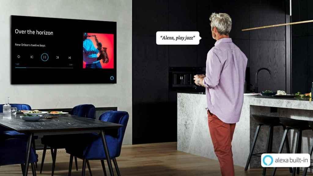 Televisor Samsung con Alexa activado.