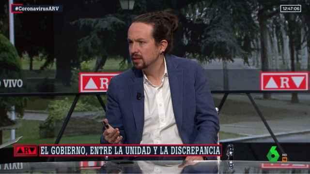 El vicepresidente segundo del Gobierno, Pablo Iglesias, este lunes en La Sexta.