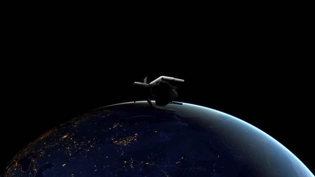 ClearSpace-1 atrapando a basura espacial