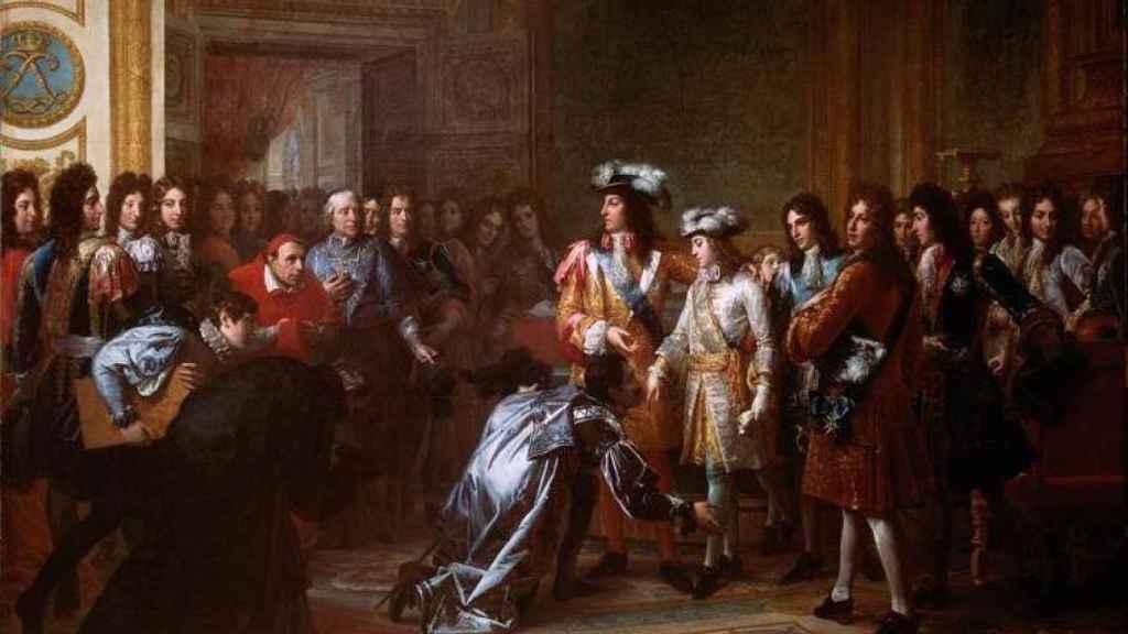 Proclamación de Felipe V como rey de España en el Palacio de Versalles (Francia) el 16 de noviembre de 1700.