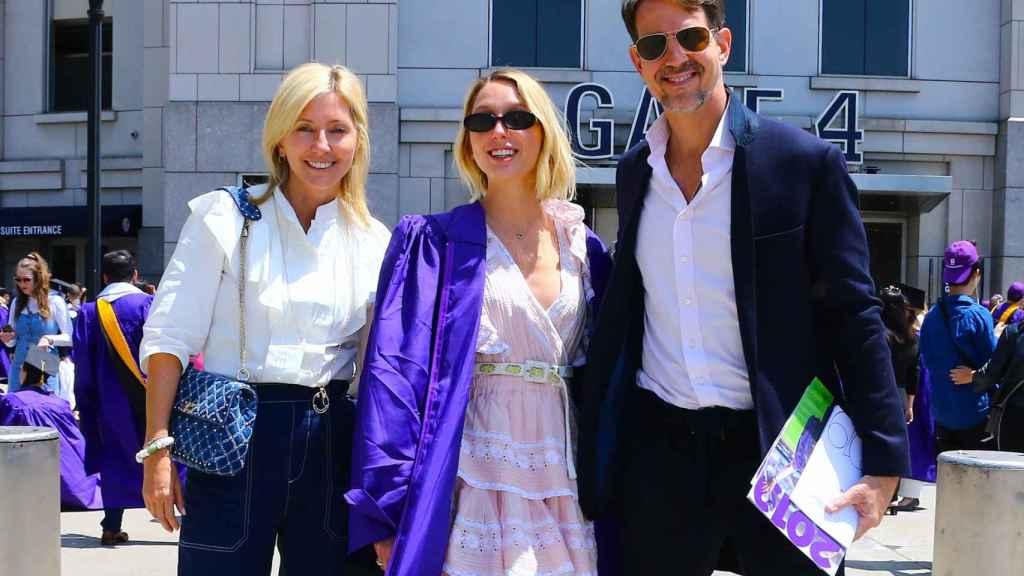 Olympia de Grecia, junto a sus padres, Pablo y Marie-Chantal.