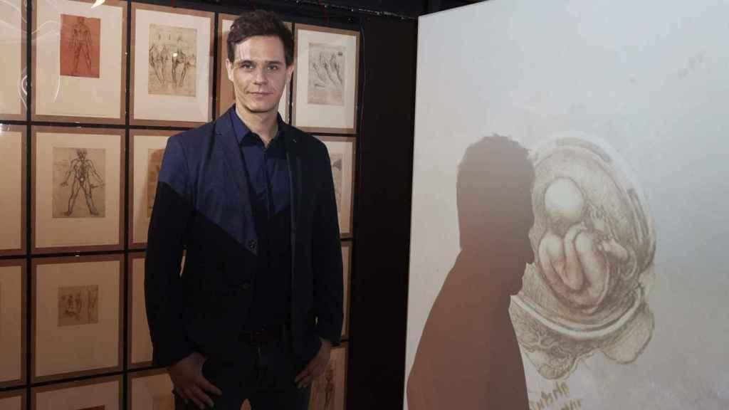 Christian Gálvez en la presentación de la exposición 'Leonardo Da Vinci: los rostros del genio'.