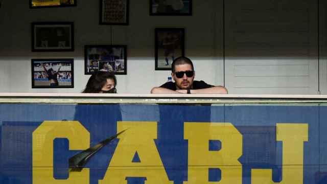 Dalma Maradona, en el palco de Boca Juniors, devastada