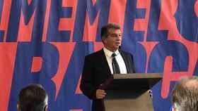 Laporta en la presentación de su candidatura a la presidencia del Barça