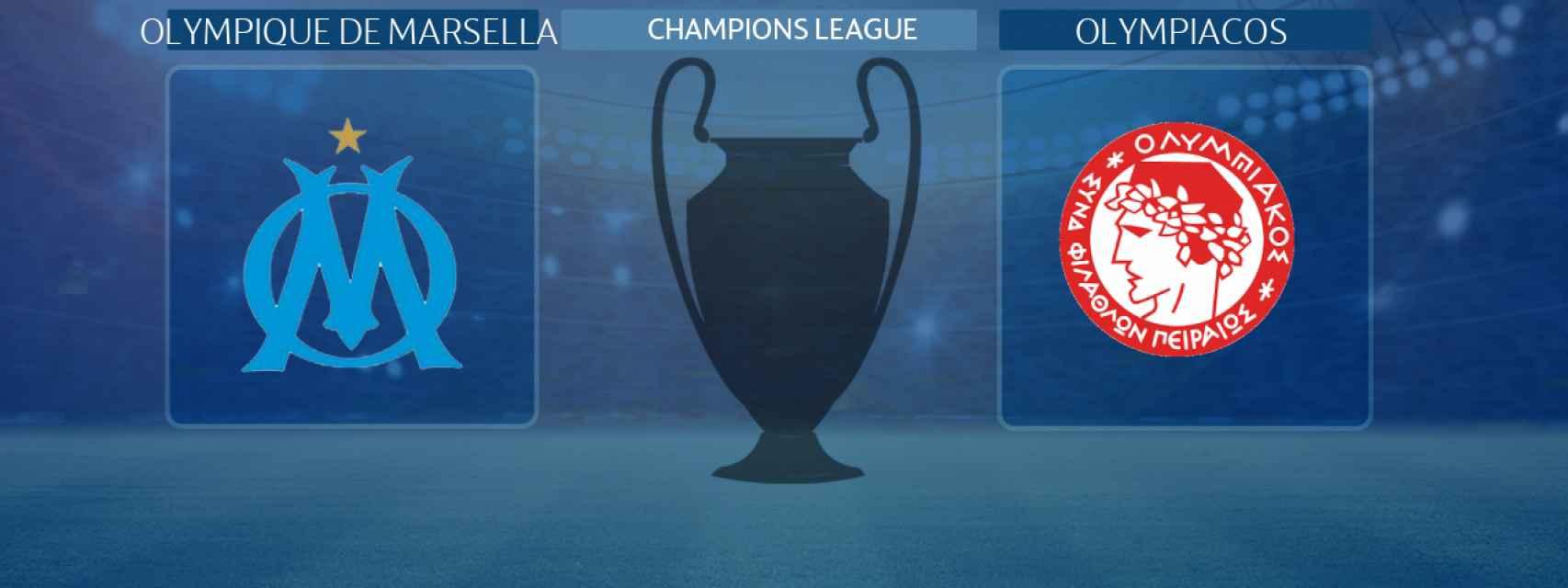 Olympique de Marsella - Olympiacos, partido de la Champions League