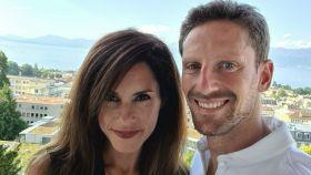 Grosjean y su mujer Marion