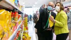 La consejera de Empleo y Empresas de Castilla-La Mancha, Patricia Franco, este lunes en la inauguración del nuevo Mercadona de Toledo