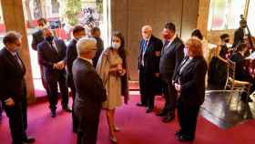 La Reina Letizia, a su llegada a la Lonja de Valencia para la entrega de los Premios Rei Jaume I. EE