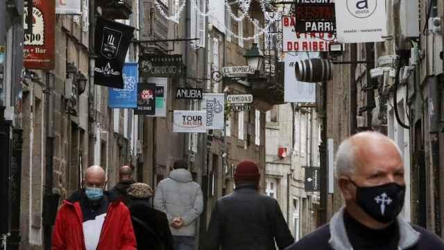 Imagen de la Rúa do Franco, en Santiago de Compostela.