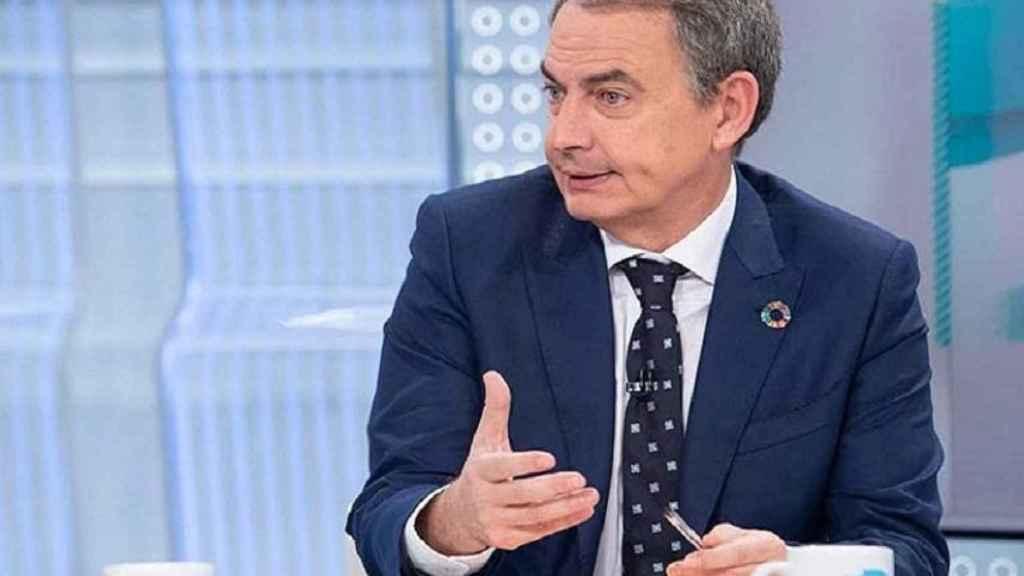 El expresidente del Gobierno, José Luis Rodríguez Zapatero, este lunes en TVE.