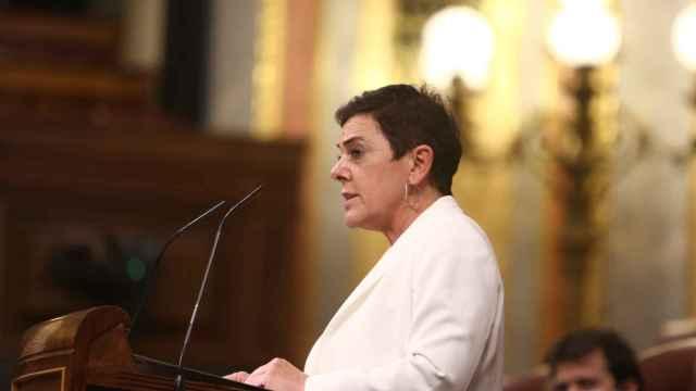 La portavoz parlamentaria de EH-Bildu, Mertxe Aizpurua, interviene en el Pleno del Congreso.