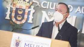 Francisco Vizcaíno, viceconsejero de Medio Ambiente de Melilla,  en rueda de prensa.