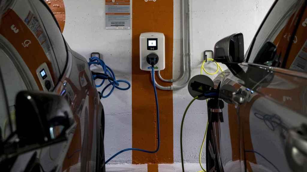 Recargas de coches eléctricos en Madrid.