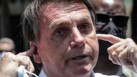 Jair Bolsonaro en un acto de campaña.