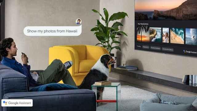 Asistente de Google funcionando en un televisor de Samsung.