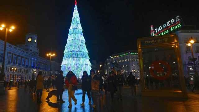 El árbol de Navidad de la Puerta del Sol de Madrid.