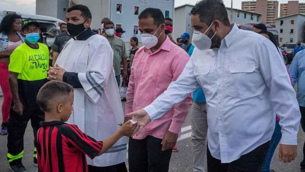Un momento de la campaña del hijo de Maduro.