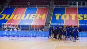 Tiempo muerto del FC Barcelona de Baloncesto