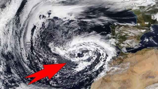 Imagen por satélite de la borrasca Clement. Severe-weather.eu
