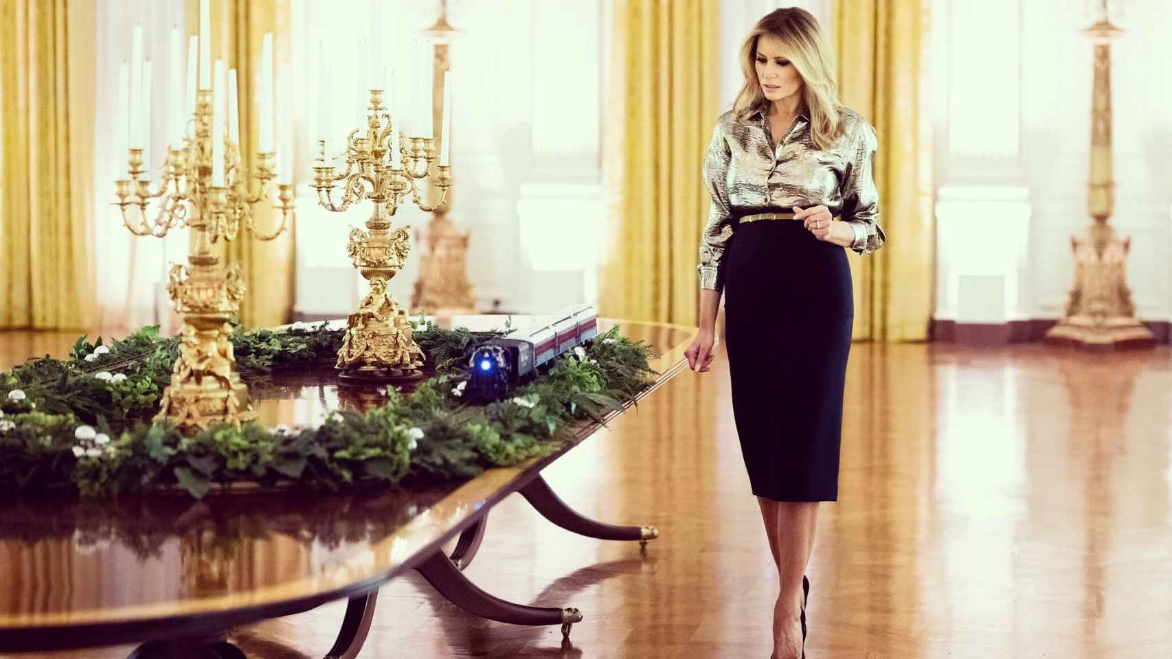 Melania Trump ha mostrado la decoración navideña de la Casa Blanca.