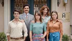 Parte del reparto de 'Amar es para siempre', la serie estrella de las tardes de Antena 3.