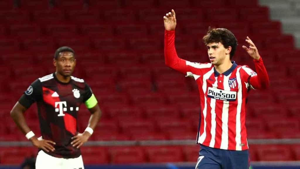 Joao Félix se lamenta en el partido del Atlético de Madrid