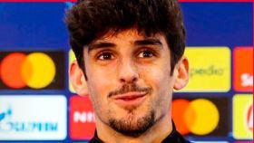 Trincao, en rueda de prensa de la Champions League