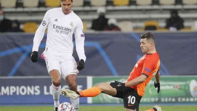 Varane, en el Shakhtar Donetsk - Real Madrid de la Champions League