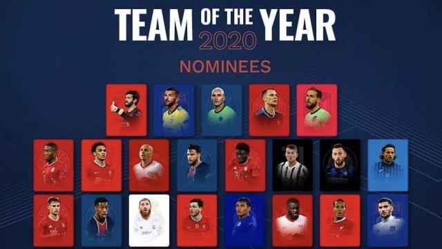 Los nominados al 'Equipo del Año' de la UEFA