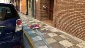 Señal de tráfico derribada en Albacete