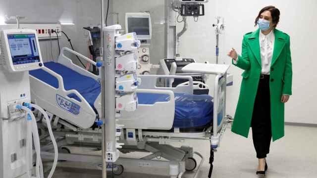 Isabel Díaz Ayuso, durante la inauguración este martes al Hospital Enfermera Isabel Zendal.