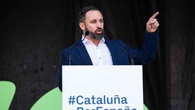 Santiago Abascal, presidente de Vox, en un acto en Cataluña.