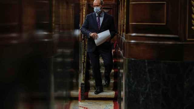 Juan Carlos Campo, ministro de Justicia, tras su discurso en el Congreso.