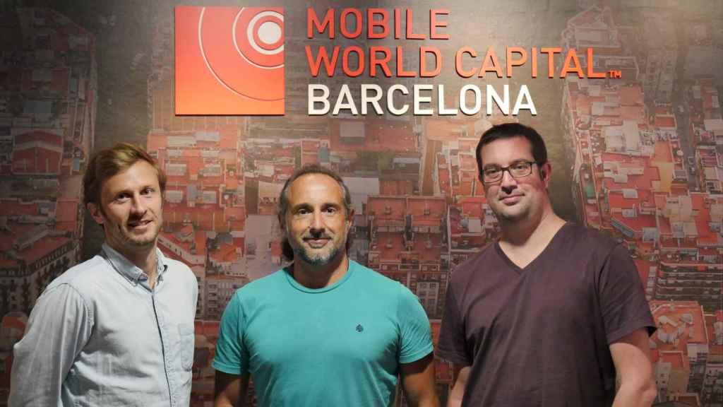 Adriaan Landman (COO), Miguel Silva-Constenla (CEO) y Marçal Rossinyol (CTO).