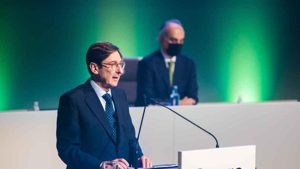 José Ignacio Goirigolzari durante la junta de accionistas de Bankia.