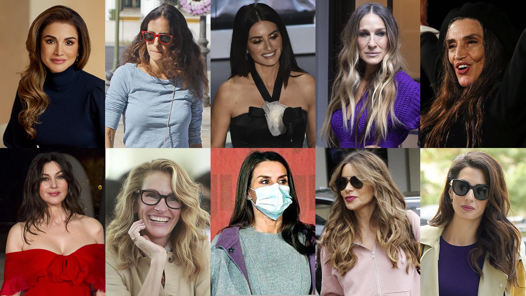De la reina Letizia a su propia hija: 10 mujeres sin clase para Carolina Herrera por llevar el pelo largo