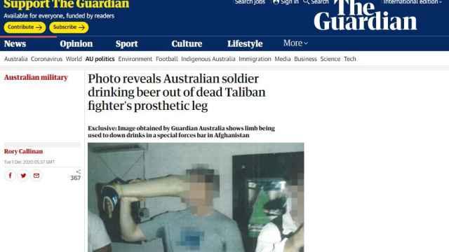 Las imágenes divulgadas en The Guardian.