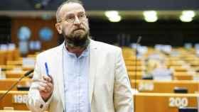 El eurodiputado húngaro József Szájer, durante un pleno en la Eurocámara