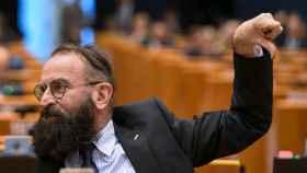 El eurodiputado húngaro József Szájer, durante un pleno en la Eurocámara.