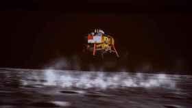 La sonda china Chang'e-5 en una imagen renderizada por ordenador